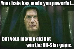 emperor selig not win AS game