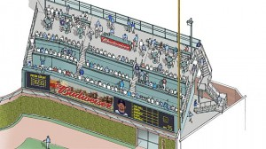 bleacher board addition at wrigley field