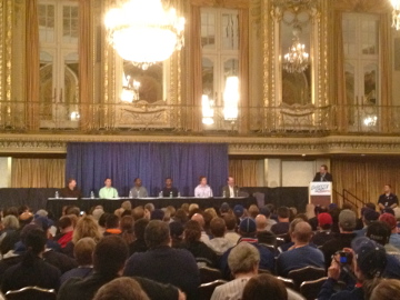 father son panel at CubsCon
