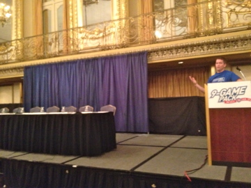 me on stage at CubsCon