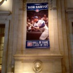 ron santo HOF banner at CubsCon