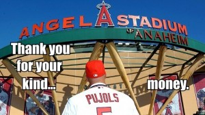 albert pujols thank you for the money