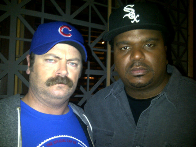 Cubs Fan Ron Swanson and White Sox Fan Darryl Philbin Go At It For a Third Time