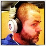 Nick Offerman cubs headphones