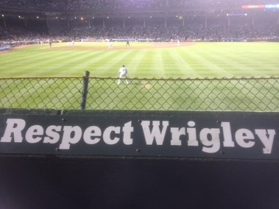 Obsessive Wrigley Renovation Watch: Cubs Putting Up Mock Outfield Signs for Testing Right Now (PICTURES)