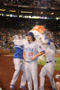 jeff samardzija gatorade shower