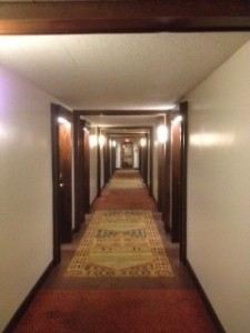 shining hotel hallway not really