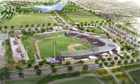 Construction of Cubs New Spring Training Facilities Humming Along