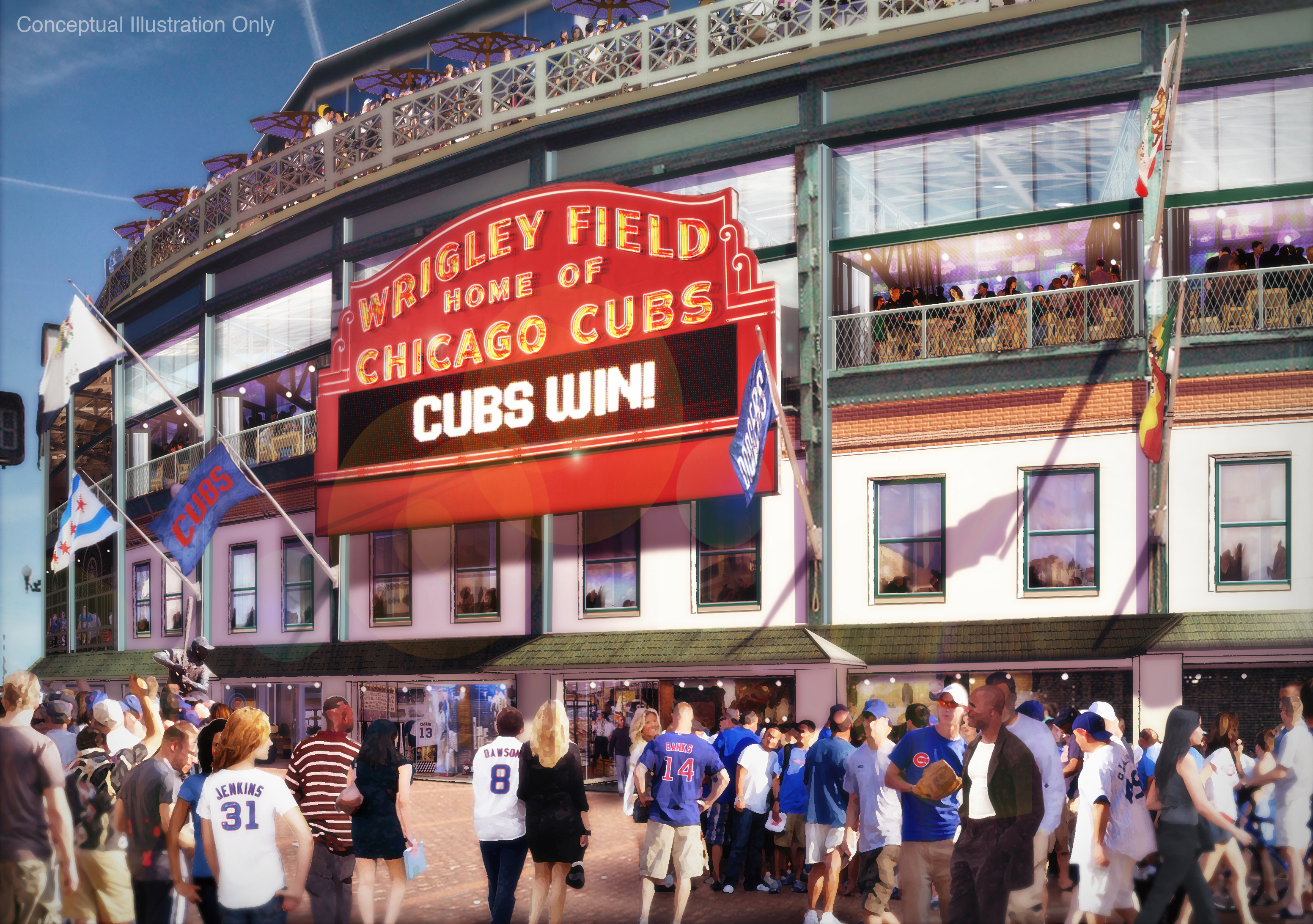Wrigley Renovation Plans Revealed: The Overview, the Financing, and the Pictures