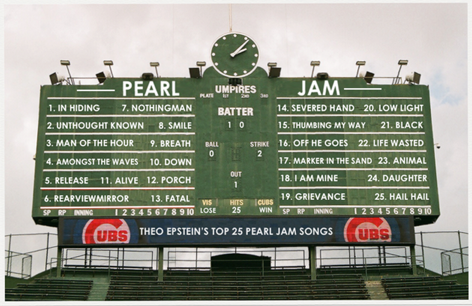 theo epstein names his top 25 pearl jam songs because why not. Black Bedroom Furniture Sets. Home Design Ideas