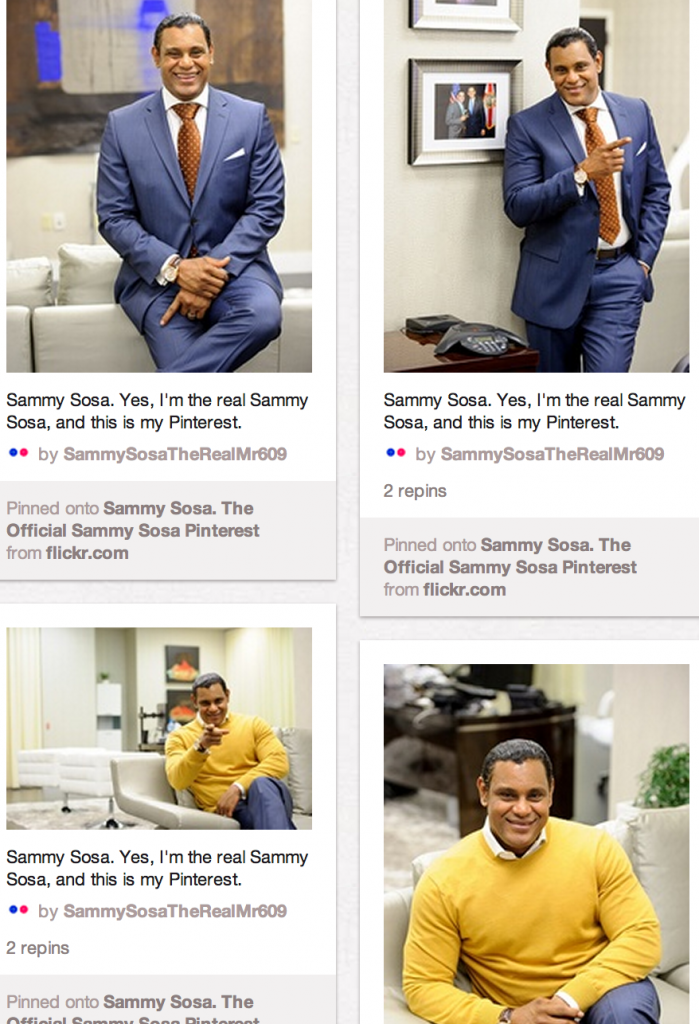 sammy sosa pinterest