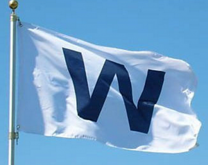 white win flag wrigley
