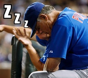 lou piniella sleeping