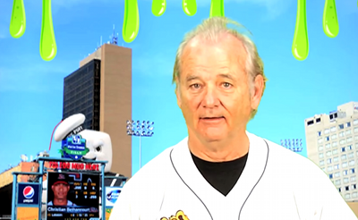 Bill Murray As Harry Caray Promoting Ghostbusters Night at a Minor League Park? OK, Sure