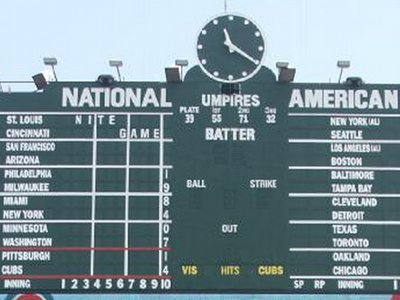 wrigley scoreboard feature