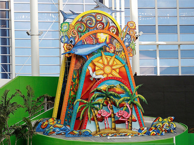 miami marlins home run sculpture