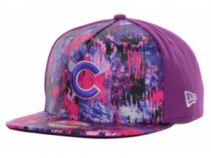 cubs splatter hat