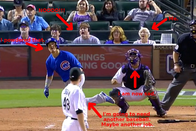 baez homer reactions