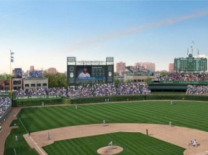 wrigley renovation jumbotron