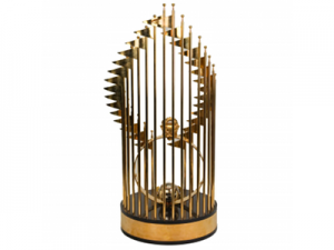 a world series trophy