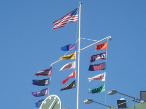cubs win standings flags scoreboard