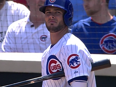 kris bryant cubs watching