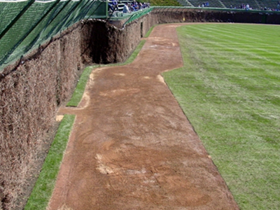 wrigley outfield warning track