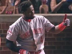 Brandon Phillips Tries to Get Sneaky, Falls Down, Is Thrown Out