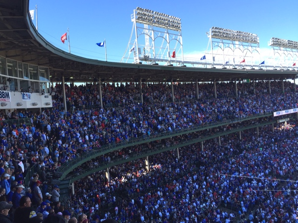 wrigley stands crowd