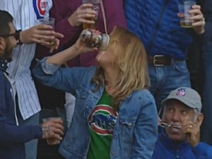 cubs fan beer chug