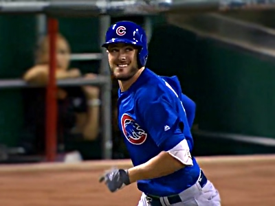 kris bryant watches it fly