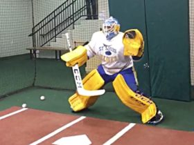 BIF: January Hockball – Watch an NHL Goalie Try to Block Big League Pitches