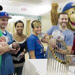 WATCH: The Cubs Took the World Series Trophy to Visit Its, um, Namesake Babies