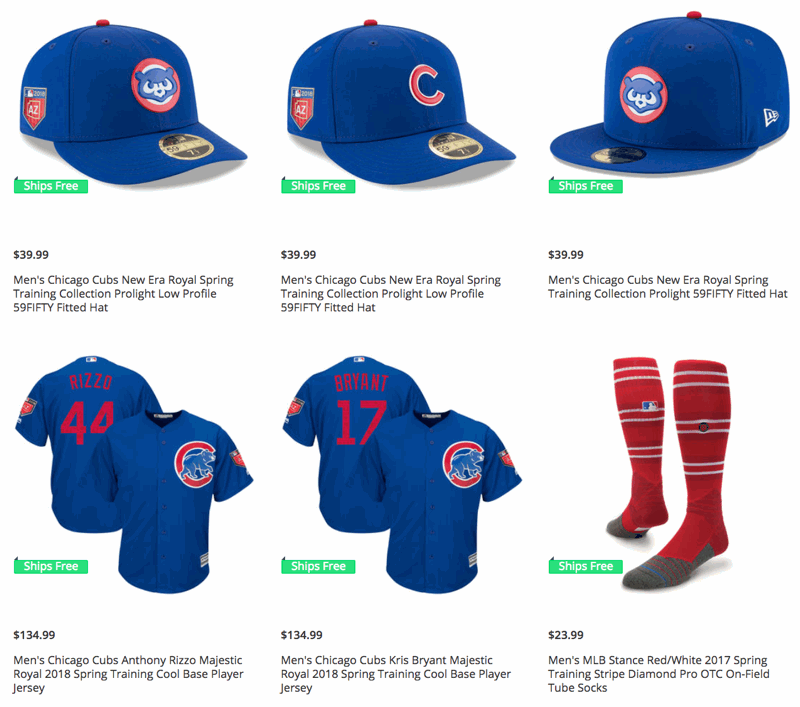 f50d7a4b1ad 2018 Cubs Spring Training Gear Just Unveiled