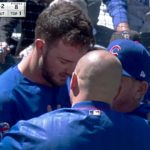 Kris Bryant Leaves Game After Being Hit in the Head by 96 MPH Fastball
