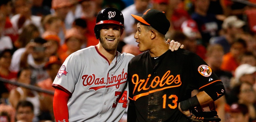 Manny Machado Bryce Harper Photo Rob Carrgetty Images Gettyimages Mlb Rumors Yankees