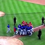 Benches Clear After Javy Baez Strikeout – Angry Words and Shoves Exchanged, No Tickles (VIDEO)