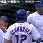 Kyle Schwarber Crushes One to Center Field, Tying Him for the Team Lead in Homers (VIDEO)