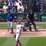 Kyle Schwarber CRUSHES His First Homer Off of a Lefty This Year (VIDEO)