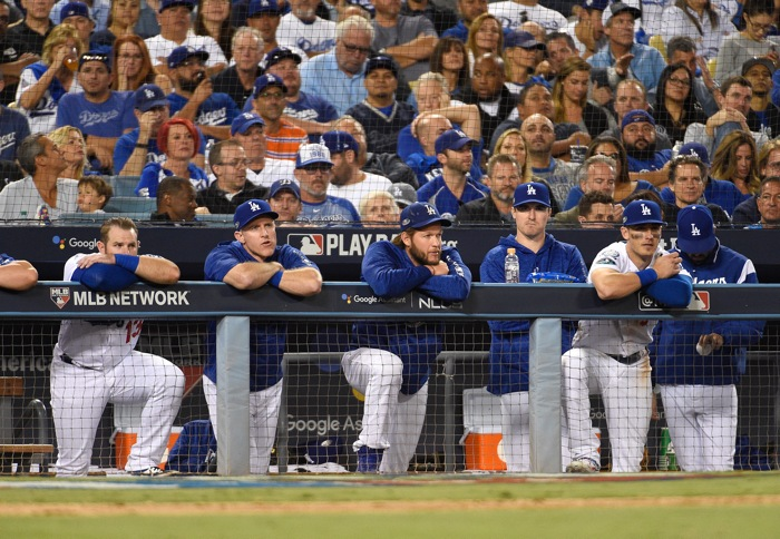 Clayton Kershaw embarrassed the Brewers' Erik Kratz with a filthy breaking ball""