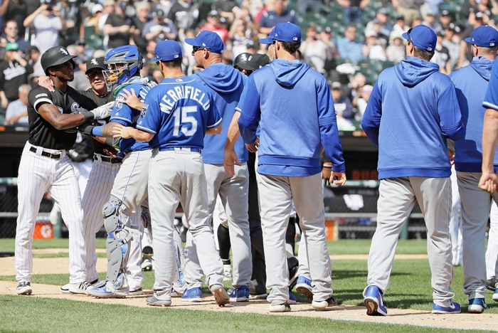 Major League Baseball  hands down suspensions in Royals-White Sox incident