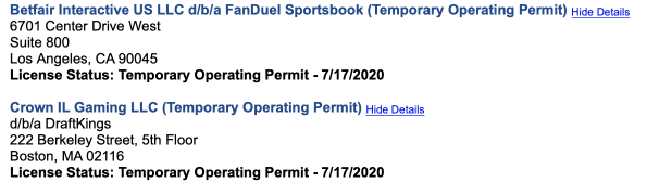draftkings fanduel license