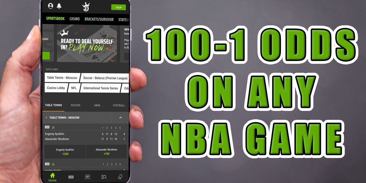 draftkings sportsbook 100-1 odds nba